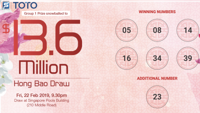 TOTO Hongbao Draw 2019 winning numbers revealed