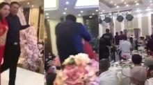 Besa a la fuerza a la novia en plena boda y desata una 'batalla campal'
