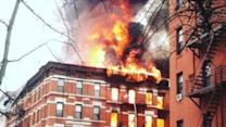 Blaze Engulfs Building in New York City's East Village