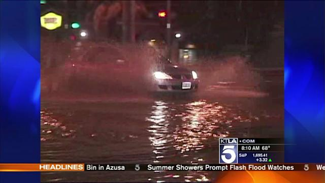 Showers, Thunderstorms Prompt Flash Flood Warnings
