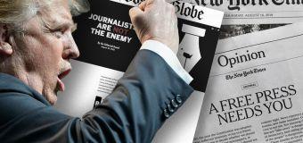Trump slams newspapers defending press freedom