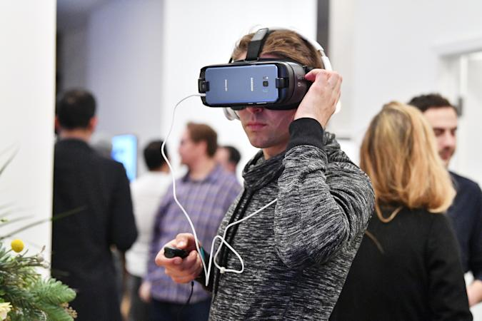 Samsung Celebrates Two Years of Gear VR during Anniversary Panel Celebration on on December 11, 2017 in New York City.