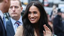 Markle Markle's first outfit of the year included this on-trend item