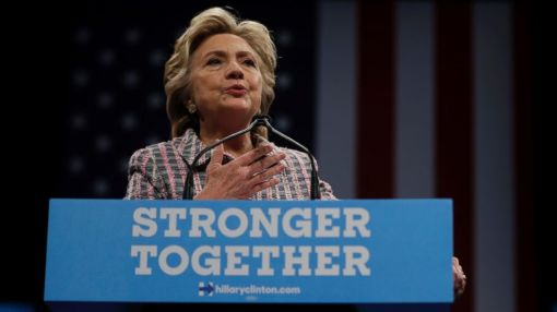 Clinton Touts National Service Agenda While Taking a Few Shots at Trump