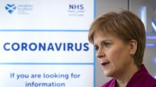 Sturgeon reveals she has not been tested for Covid-19 as she wishes PM well