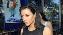 Kim Kardashian Honors the Virgin Mary in Skintight Sheer Dress