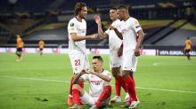 Ocampos heads Sevilla past Wolves into Europa League semis