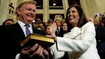 Kane takes historic oath as Pa. attorney general