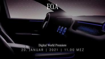 最大 268 匹馬力輸出:賓士 EQA 跨界電動休旅 1/20 正式發表