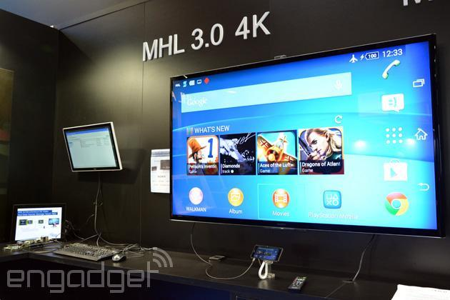 MHL 3.0 does 4K video output, 10W charging and data transfer over a single cable (video)