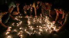 Locked-down India lights up to mark virus fight