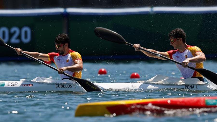 Cubelos y Peña clasificados para la semifinales del K2 1.000