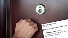 Elderly man calls radio station for help after disturbing door knock