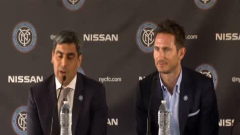 Lampard presentado con el New York City