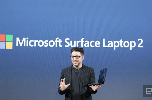 Microsoft claims the Surface Laptop 2 is 85 percent faster