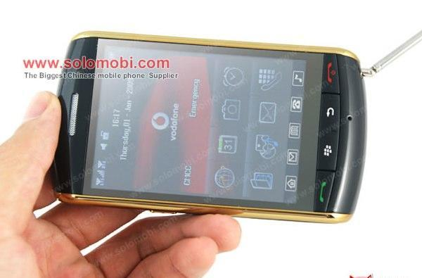 Keepin' it real fake, part CCIX: Fake BlackBerry Storm adds some gold trim, beats the Storm 2 to clickscreen-free living
