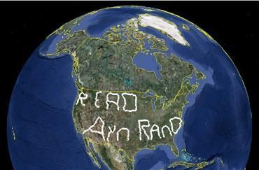 Google Earth missive inscribed using GPS and 12,328 miles of dedication