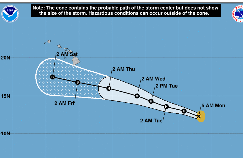 Hurricanes Erick and Flossie weaken as they approach Hawaii