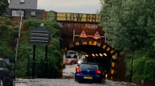 Storm Francis sweeps across UK as London wakes up to flooded streets