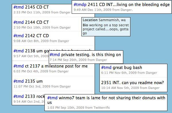 Microsoft's Twitter chatter suggests Danger is up to something -- Pink drawing near?