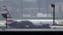 American Airlines jet catches fire on takeoff at Chicago airport