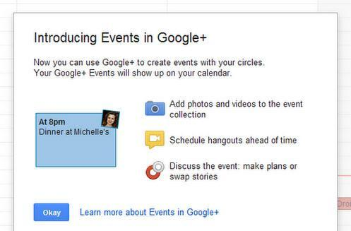 Google+ Events leaks out through Google Calendar, will let your knitting circle schedule a Hangout