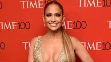 Jennifer Lopez Sizzles in a Bombshell Gold Dress and Matching Heels at the Time 100 Gala