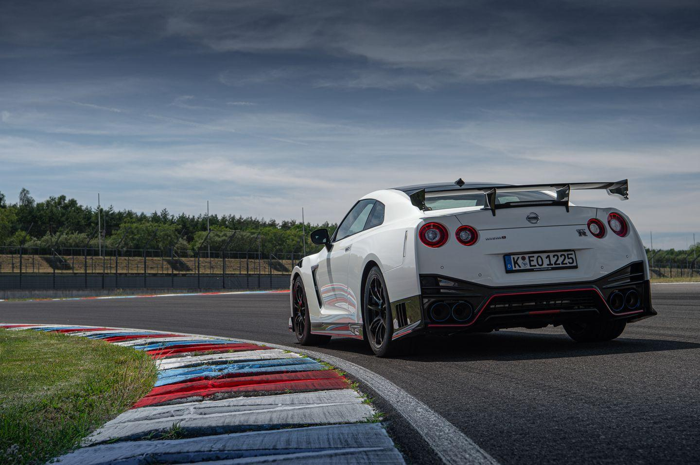 <p>NISMO (and Track) models of the GT-R have fenders flared to accommodate wider tires than standard.</p>