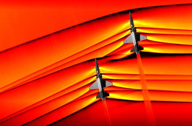 NASA unveils stunning images of merging supersonic shockwaves