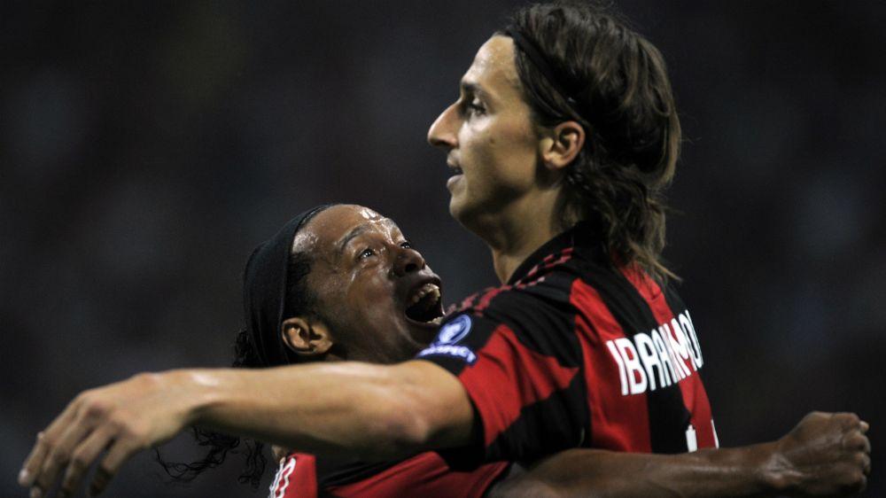 Auch Ronaldinho wünscht Ibrahimovic eine schnelle Genesung