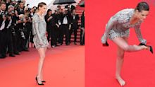 Kristen Stewart Went Barefoot Up the Cannes Stairs