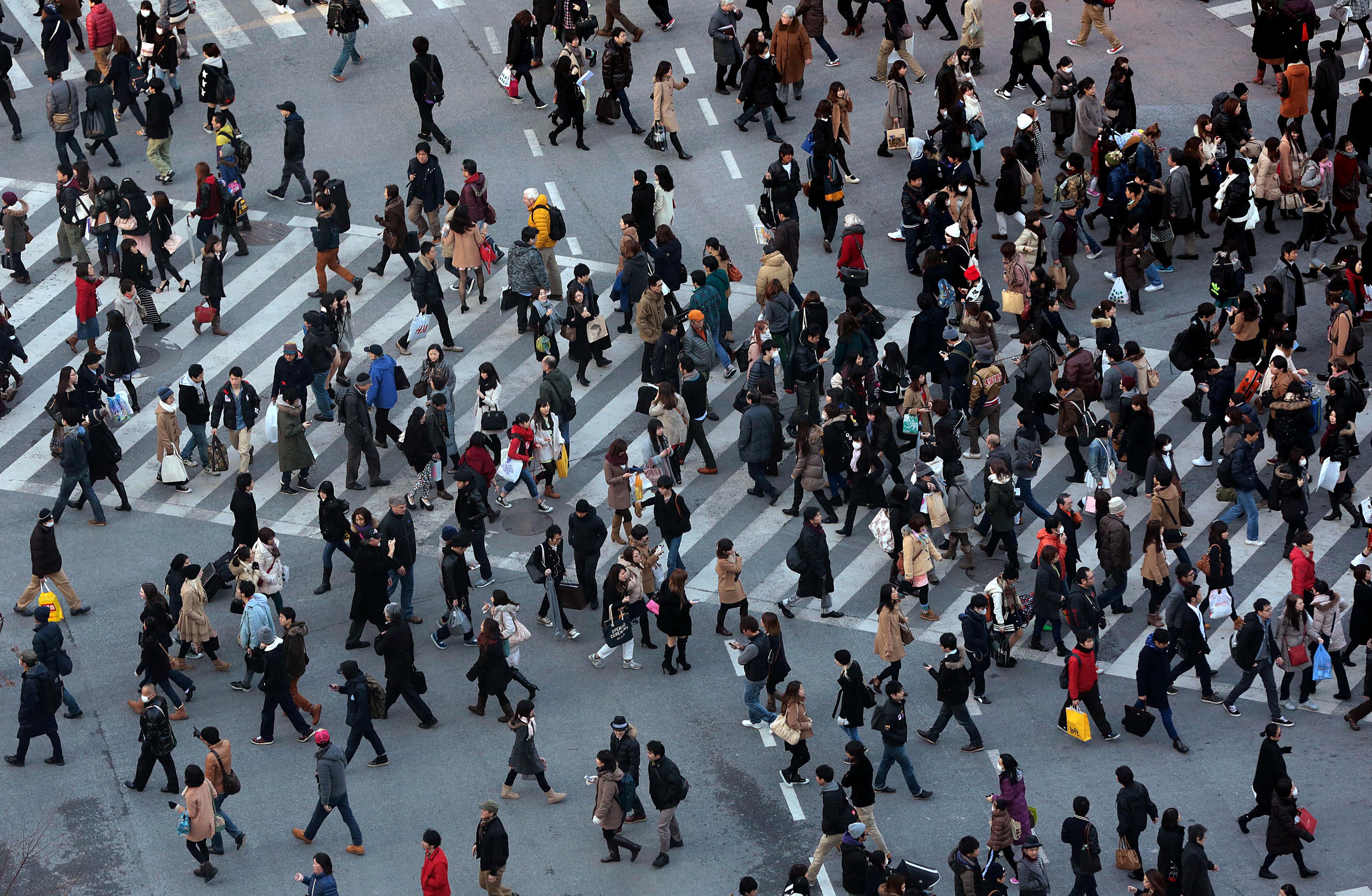 картинки массового скопления людей растение японии