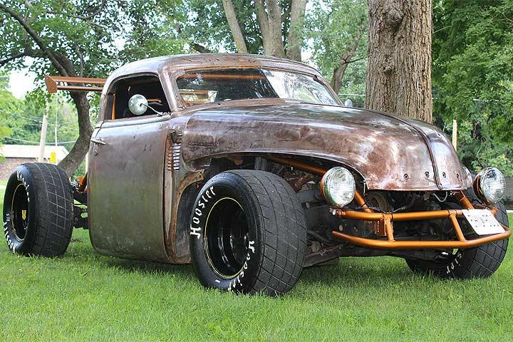 this 1947 chevrolet pickup is half rat rod half racecar. Black Bedroom Furniture Sets. Home Design Ideas