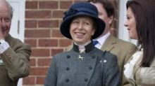 Princess Anne's thrifty hotel room
