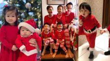 星媽鐘嘉欣、周汶錡及陳茵媺哂仔女合照賀聖誕!