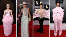 Kylie Jenner, JLo and Cardi B lead wacky and wonderful Grammys red carpet