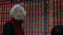 Asian Stocks Fall as China's Markets Reopen; PBOC Lowers Required Reserve Ratio