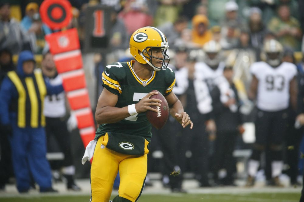 Green Bay Packers quarterback Brett Hundley is looking for improvements in his second career start. (AP)