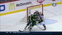 Zach Parise deflects winner past Varlamov
