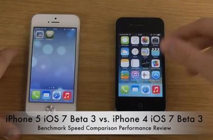 iOS 7 Beta 3 gets benchmarked on iPhone 4 and 5
