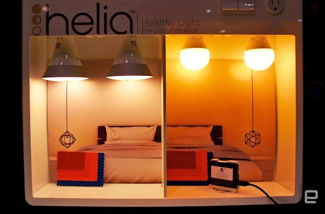 Helia bulbs cut blue light to help you sleep at night