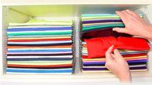El doblador y organizador de camisetas que siempre has deseado