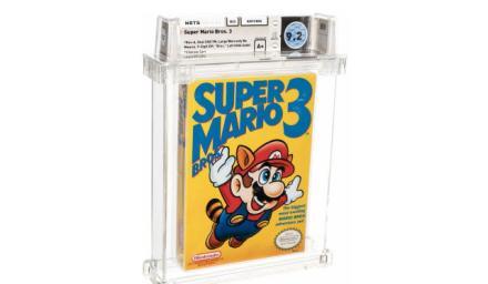 這《Super Mario Bros. 3》遊戲片居然拍賣得十五萬美元!