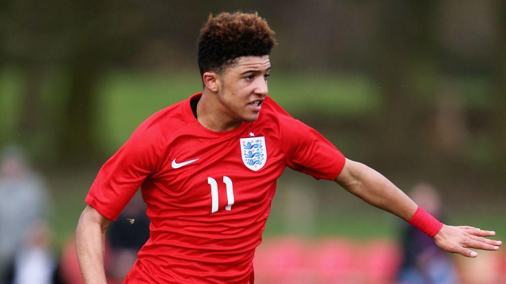 England wonderkid Sancho makes history with Dortmund debut