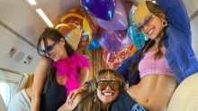 Inside Bella Hadid's Private Jet Birthday Party