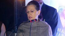 Sonia Gandhi slams PM Modi, Says 'Nehru being underminded by Modi Government'