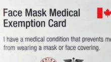 Mask exception cards spark controversy