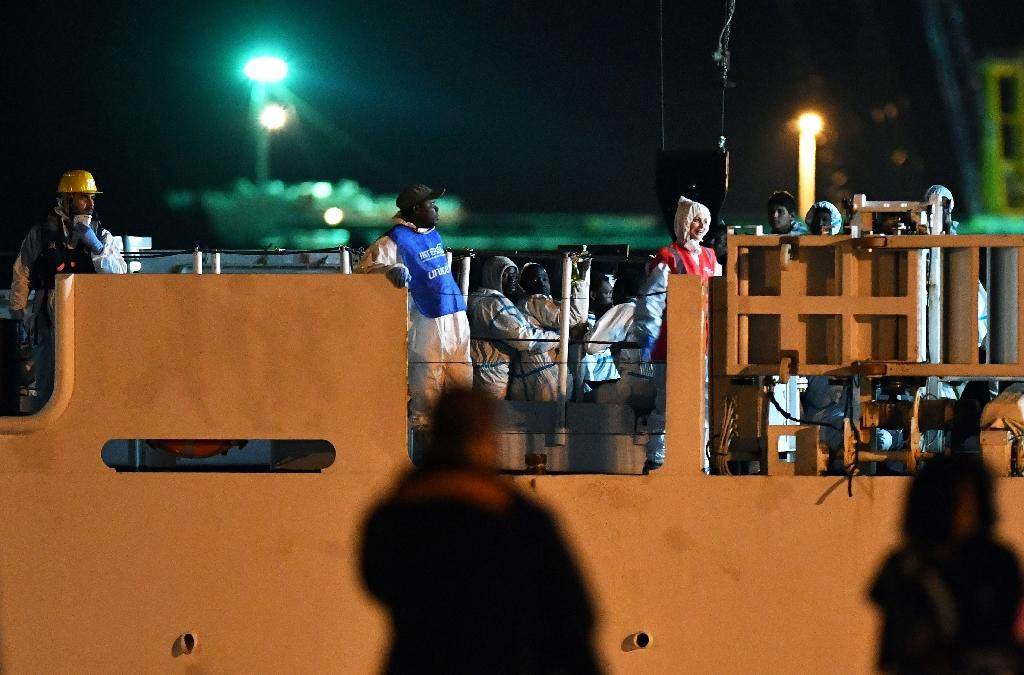 The Diciotti was carrying 522 migrants, including dozens rescued by a US Navy ship off Libya