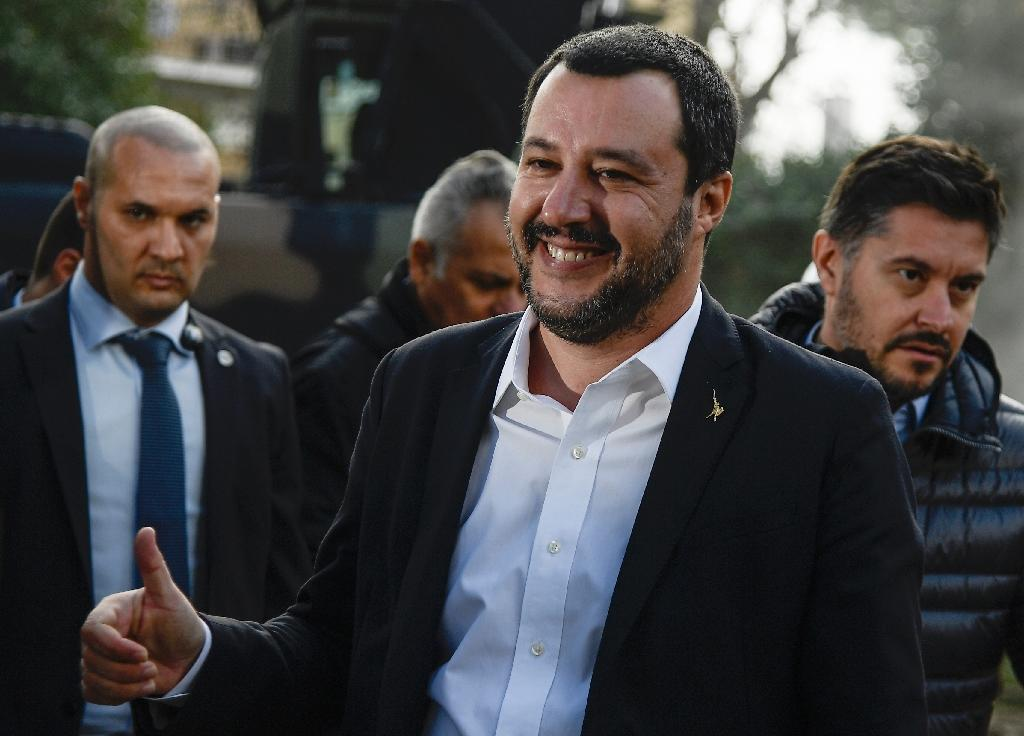 Italy has adopted far-right Interior Minister Matteo Salvini's (pictured November 26, 2018) bill, which makes it easier to expel migrants and limits residency permits (AFP Photo/Filippo MONTEFORTE)