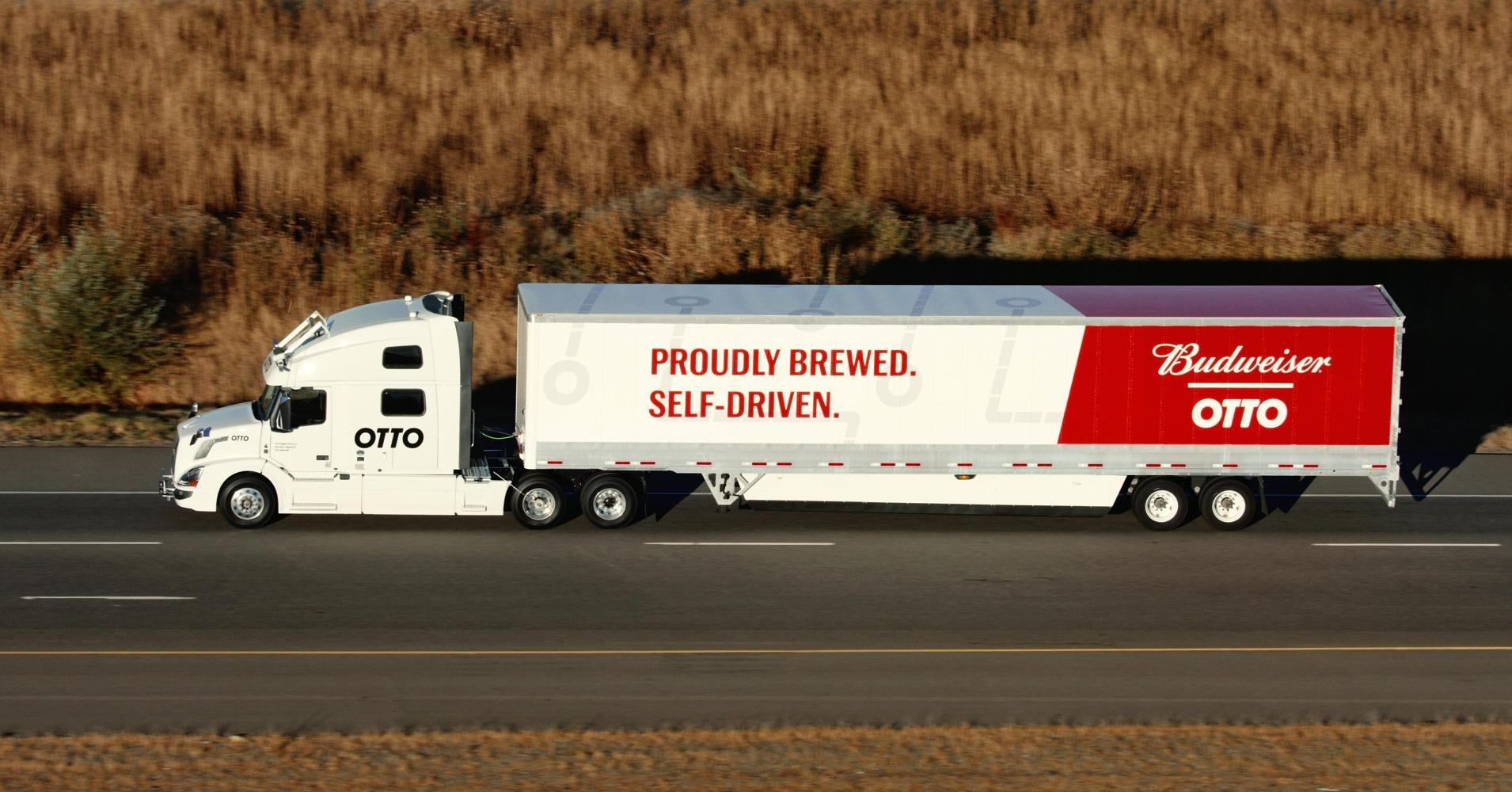 'Driverless' beer run; Bud makes shipment with self-driving truck